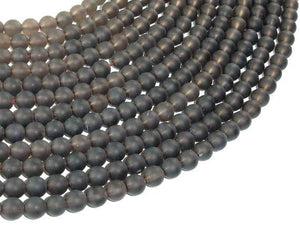 Matte Smoky Quartz Beads, 6mm Round Beads-BeadBeyond