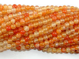 Carnelian Beads, Orange, 4mm (4.4mm) Round Beads-BeadBeyond