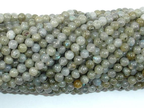Labradorite Beads, 4mm Round Beads-BeadBeyond