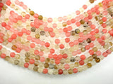 Matte Fire Cherry Quartz Beads, 8mm Round Beads-BeadBeyond