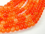 Agate Beads-Orange, 8mm(8.3mm) Round-BeadBeyond
