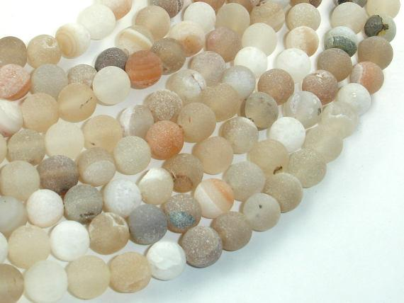 Druzy Agate Beads, Geode Beads, Approx 8mm(8.5mm) Round Beads, 15.5 Inch