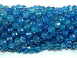 Blue Agate Beads, 6mm Faceted Round Beads-BeadBeyond