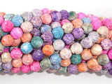 Crackle Agate Beads, Multi color, 6mm Round Beads-BeadBeyond