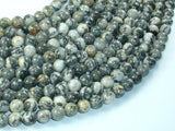 Gray Picture Jasper Beads, 6mm Round Beads-BeadBeyond