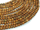 Crackle Tibetan Agate, 6mm Round Beads-BeadBeyond