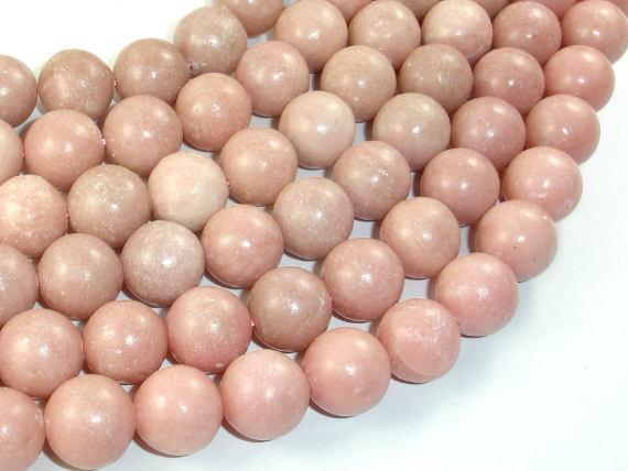 Pink Opal, 13mm Round Beads-BeadBeyond