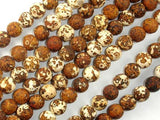 Matte Antique Agate Beads, 8mm Round Beads-BeadBeyond