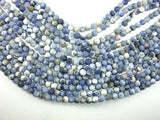Matte Sodalite Beads, 6mm Round Beads-BeadBeyond