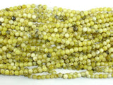 Yellow Turquoise Beads, 4mm (4.5mm) Round Beads-BeadBeyond
