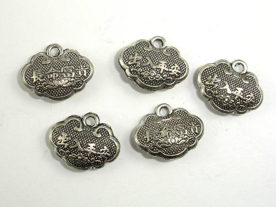 Lock Charms, Zinc Alloy, Antique Silver Tone 20pcs-BeadBeyond