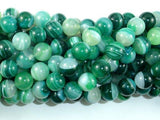 Banded Agate Beads, Green, 10mm(10.5mm)-BeadBeyond