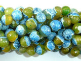 Agate Beads, Blue & Green, 10mm Faceted Round-BeadBeyond