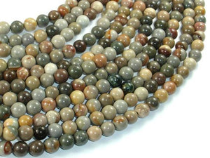 Silver Leaf Jasper Beads, 6mm(6.5mm) Round Beads, 15.5 Inch, Full strand