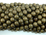 Green Silkwood Beads, 8mm Round Beads-BeadBeyond