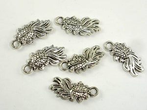 Goldfish Charms, Zinc Alloy, Antique Silver Tone 20pcs-BeadBeyond