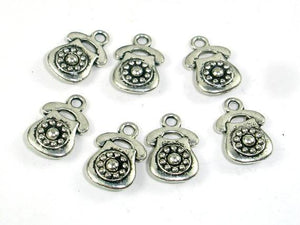 Telephone Charms, Zinc Alloy, Antique Silver Tone-BeadBeyond
