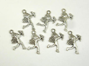 Cupid Charms, Zinc Alloy, Antique Silver Tone, 12x18 mm, 20 pcs, Hole 1.9mm (006873014)