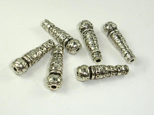 Metal Beads, Metal Spacer, Stick Beads, Zinc Alloy 10pcs-BeadBeyond