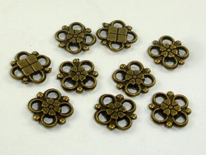 Metal Links, Flower Links, Connector Links, Zinc Alloy 30pcs-BeadBeyond