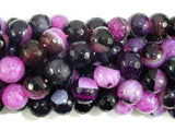 Agate Beads, Pink & Black, 10mm Faceted-BeadBeyond