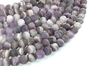 Matte Amethyst Beads, Matte Dog Tooth Amethyst, Round, 8mm-BeadBeyond