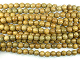 Green Sandalwood Beads, 10mm Round Beads-BeadBeyond