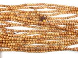Taxus Chinensis Wood Beads, 6mm Round Beads-BeadBeyond