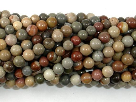 Polychrome Jasper, 4mm Round Bead-BeadBeyond