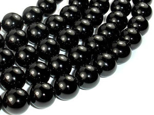 Black Onyx Beads, 14mm Round-BeadBeyond