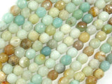 Amazonite Beads, 6mm (5.8mm) Faceted Round Beads-BeadBeyond
