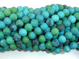 Matte Chrysocolla, 6mm, Round Beads-BeadBeyond