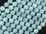 Sponge Quartz Beads-Aqua, 8mm Round Beads-BeadBeyond