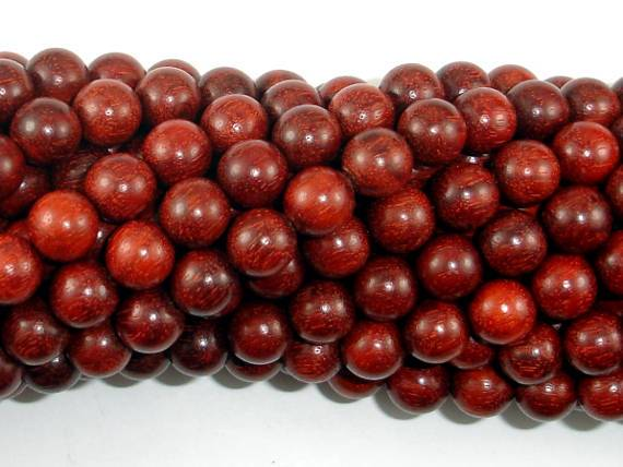 Red Sandalwood Beads, 8mm, Round Beads-BeadBeyond