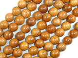 Taxus Chinensis Wood Beads, 10mm Round Beads-BeadBeyond