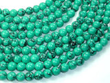 Howlite Turquoise Beads Green, 8mm Round Beads-BeadBeyond
