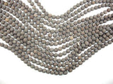 Matte Brown Snowflake Obsidian Beads, 6mm Round Beads-BeadBeyond