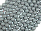 Matte Hematite Beads, 6mm Round Beads-BeadBeyond