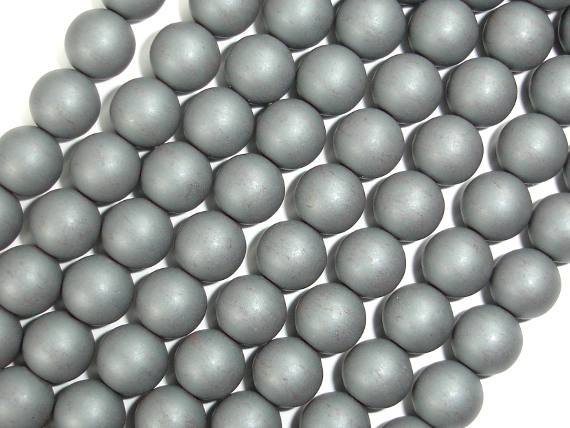 Matte Hematite Beads, 8mm Round Beads-BeadBeyond