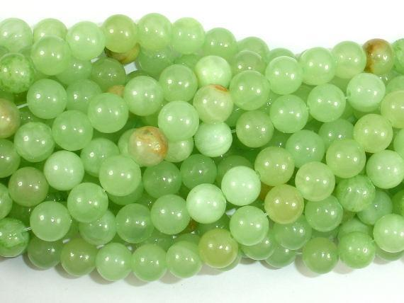 Afghan Jade Beads, Round, 8mm, 16 Inch-BeadBeyond
