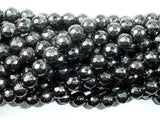 Hematite, 8mm Faceted Round Beads-BeadBeyond