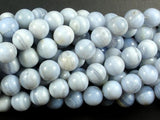 Blue Lace Agate Beads, Blue Chalcedony Beads, 10mm Round-BeadBeyond