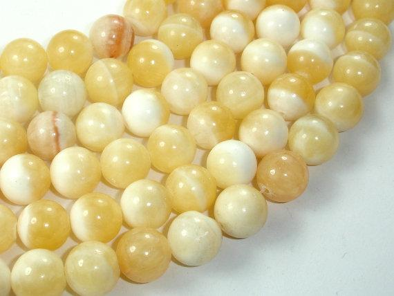 Honey Jade Beads, 12mm Round Beads-BeadBeyond