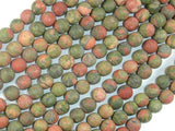 Matte Unakite, 6mm Round Beads-BeadBeyond