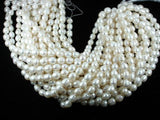 Fresh Water Pearl Beads, Rice, White, 10x12mm-BeadBeyond