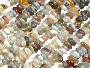 Botswana Agate Beads, Pebble Chips, 6mm-10mm-BeadBeyond