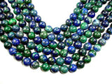 Azurite Malachite Beads, Round, 12mm-BeadBeyond