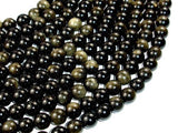 Golden Obsidian, Round, 10mm beads-BeadBeyond