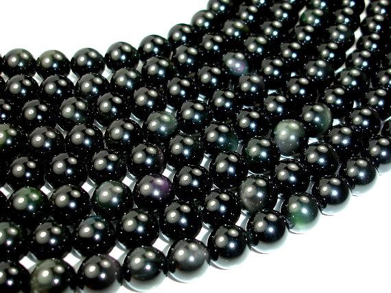 Rainbow Obsidian Beads, Round, 10mm-BeadBeyond