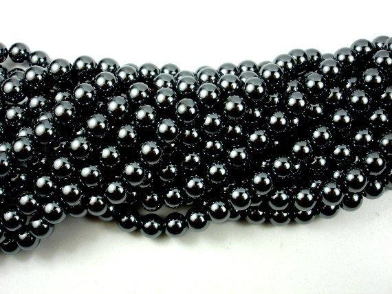 Hematite Beads, Round, 8mm-BeadBeyond